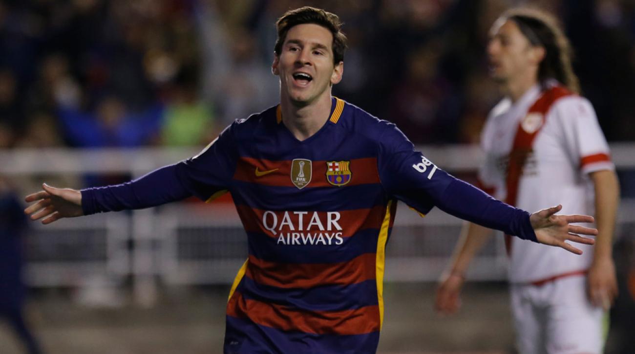 Lionel Messi scored a hat trick for Barcelona vs. Rayo Vallecano in La Liga