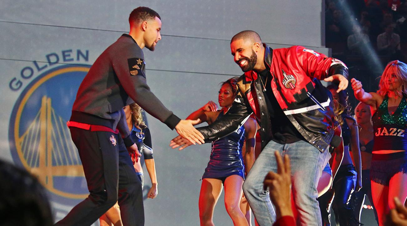 Stephen Curry Drake Kobe Bryant jacket NBA All-Star Weekend