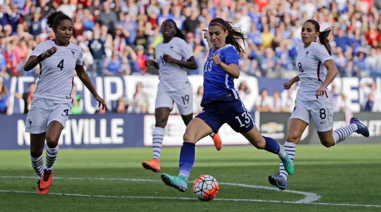 Alex Morgan scores a winner vs. France