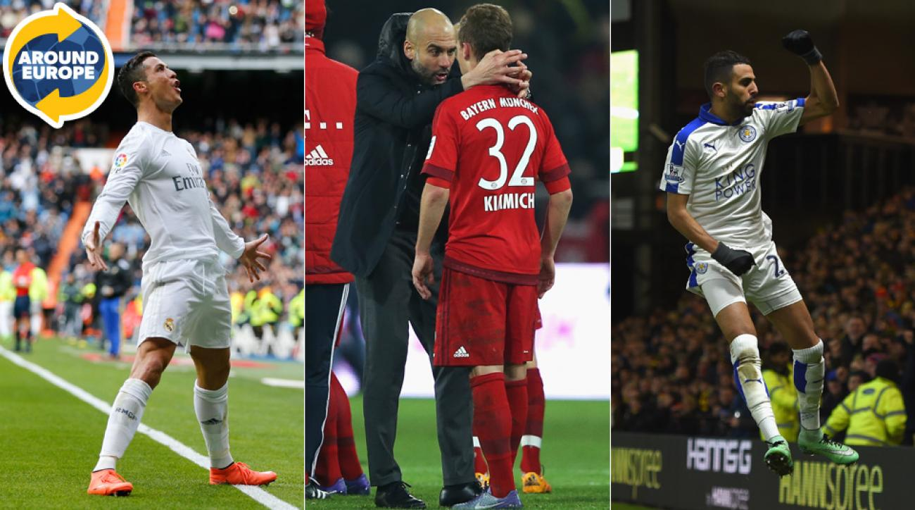 Cristiano Ronaldo, Pep Guardiola and Riyad Mahrez were at the center of the action Around Europe