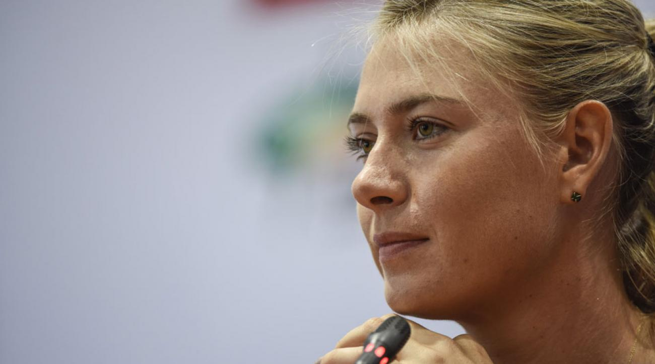 maria sharapova announcement press conference