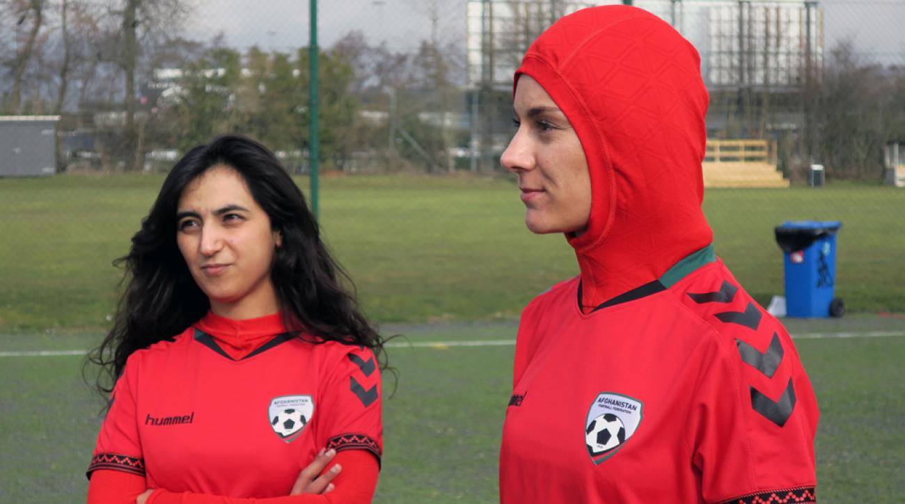 The new Afghanistan women's soccer jersey includes a hijab
