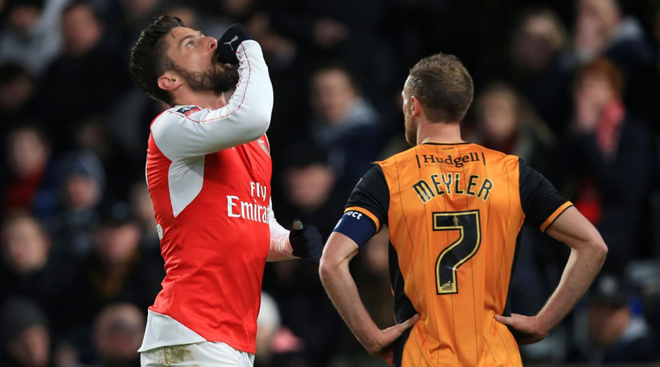 Arsenal beats Hull City 4-0 in their FA Cup replay to reach the quarterfinals