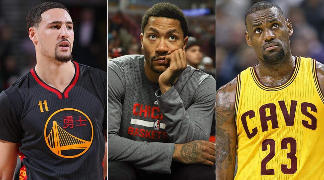Klay Thompson, Derrick Rose, LeBron James