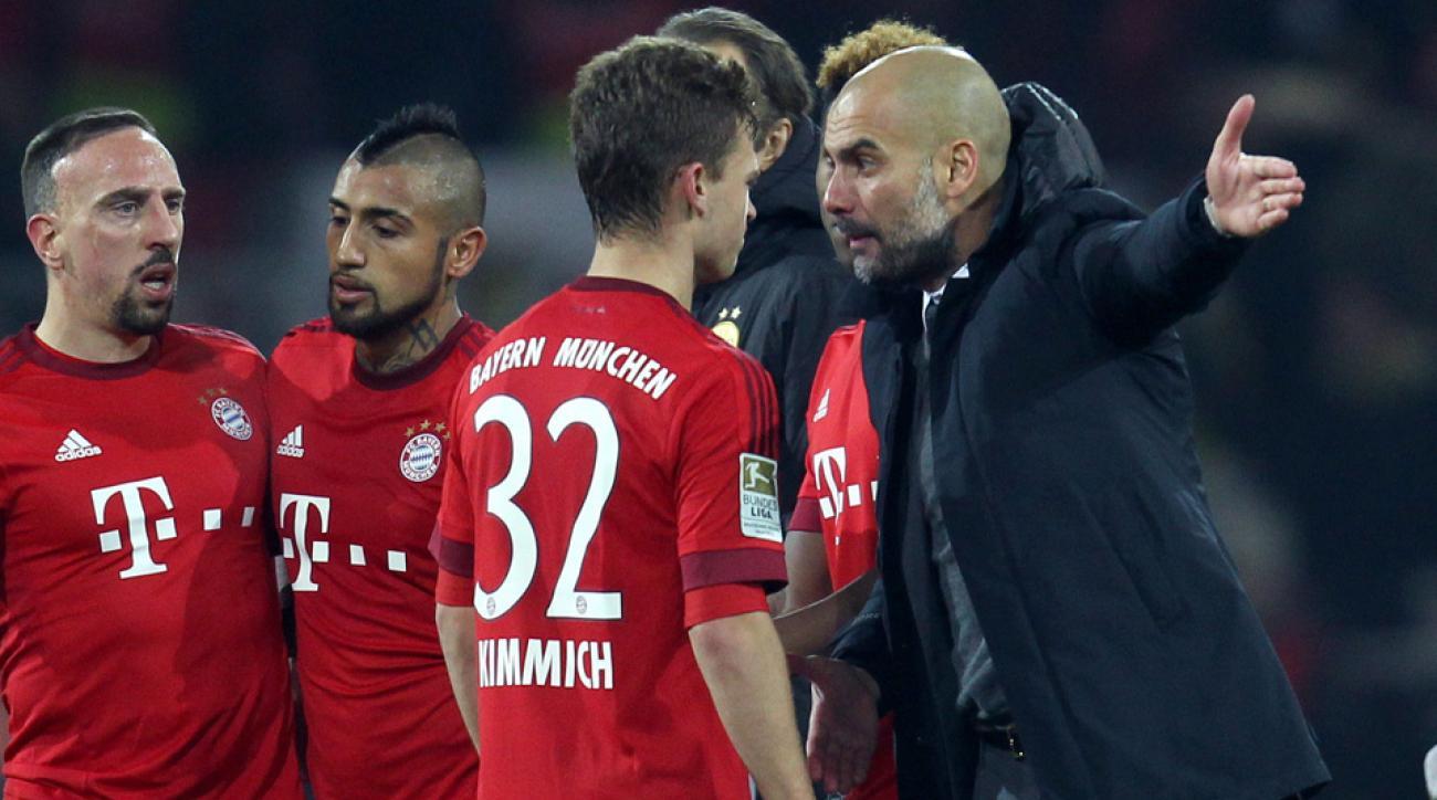 Pep Guardiola instructs Joshua Kimmich after Bayern Munich's draw with Borussia Dortmund