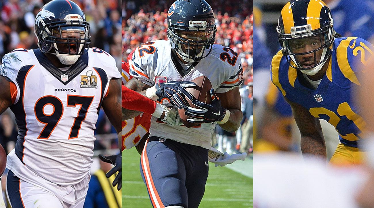 Malik Jackson, Matt Forte and Janoris Jenkins.