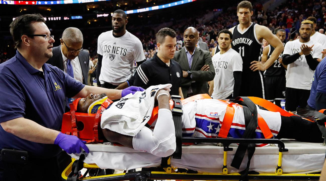 robert-covington-philadelphia-76ers-stretcher-injury-video