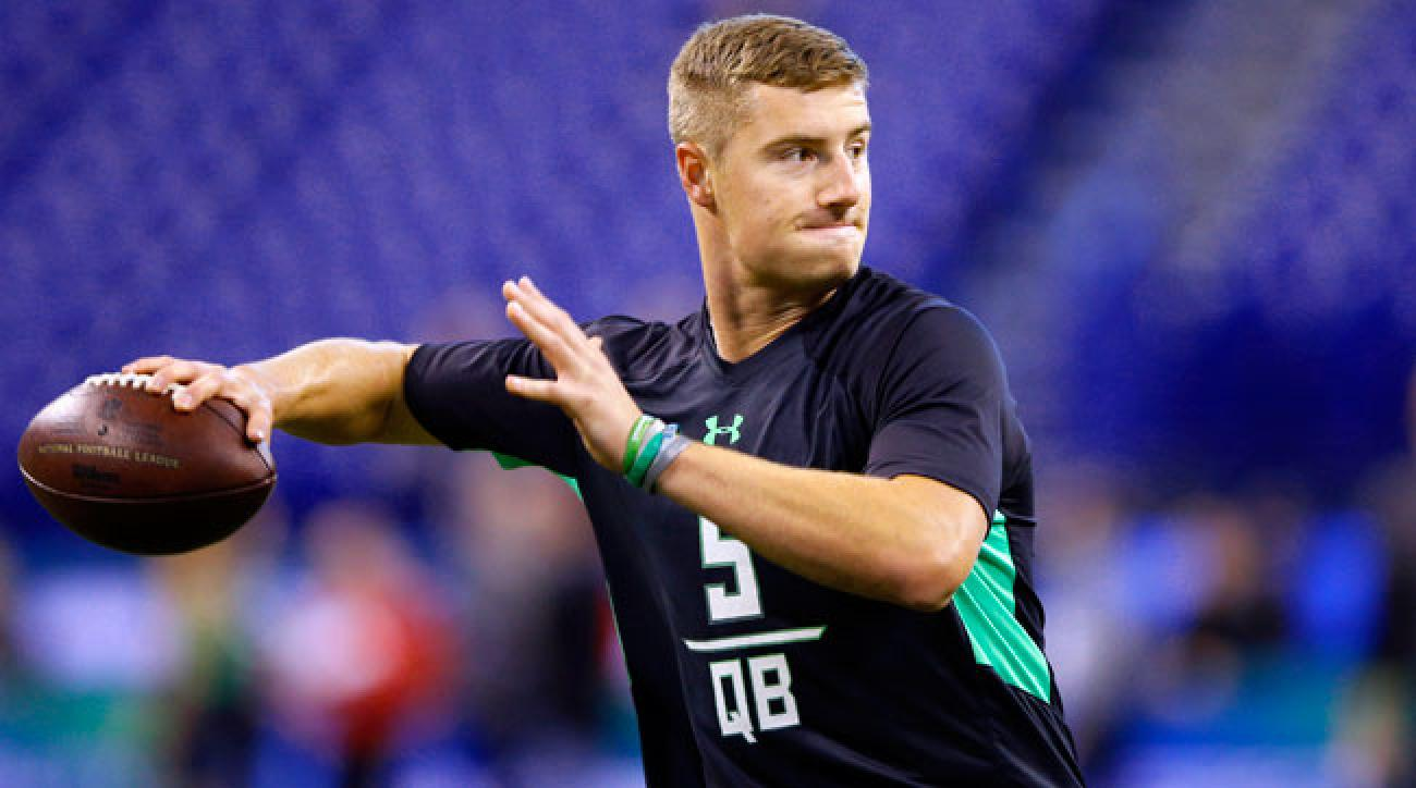 Michigan State quarterback Connor Cook at the 2016 NFL combine.