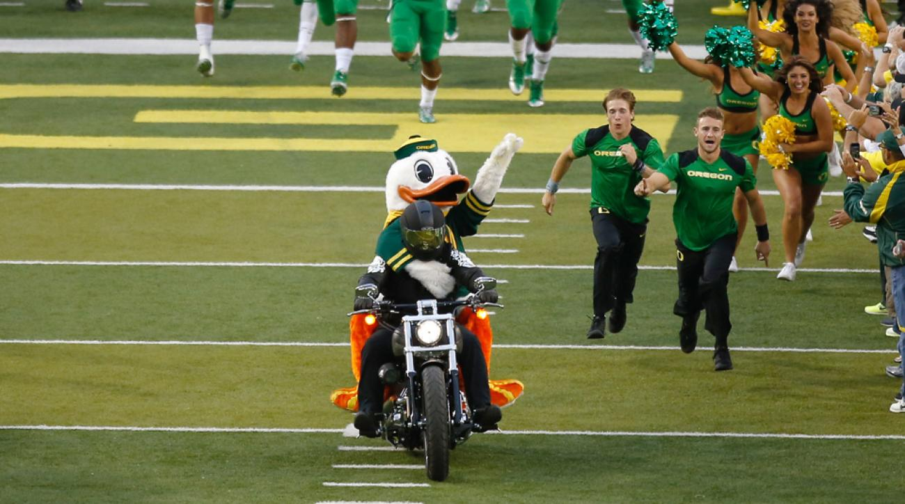 oregon ducks mascot motorcycle