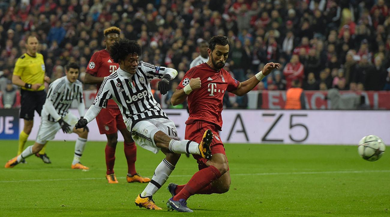 juventus bayern munich champions league cuadrado pogba goals highlights video