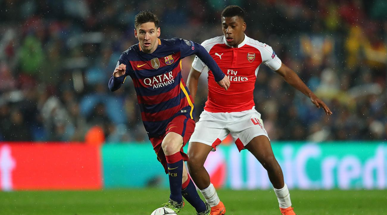 barcelona arsenal messi goal lionel champions league highlights video