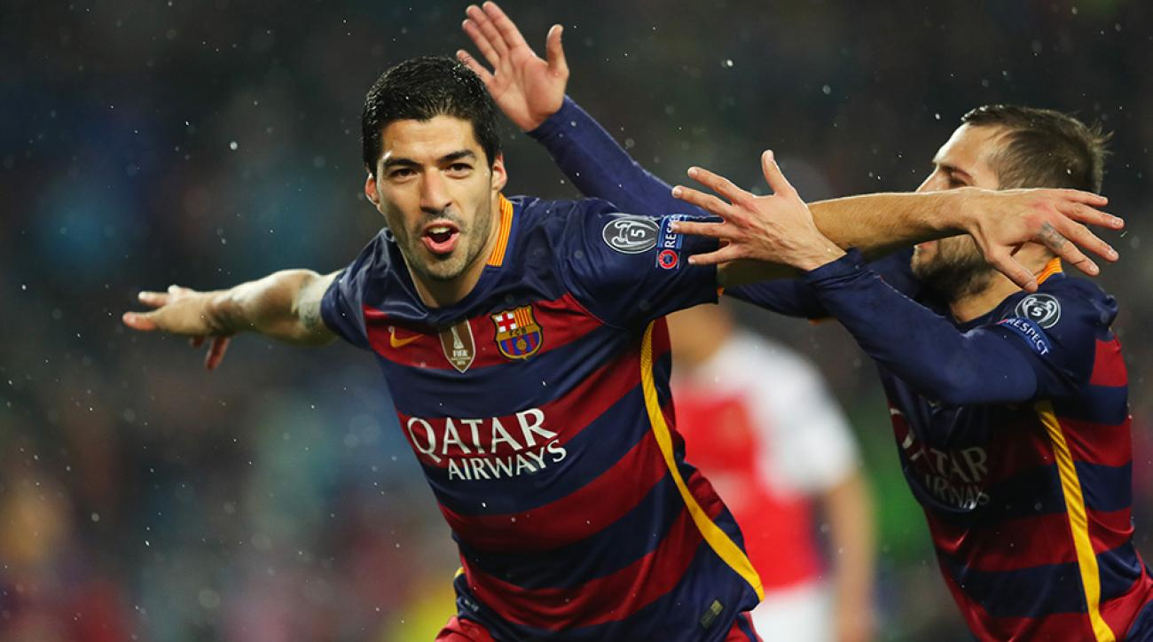 barcelona arsenal luis suarez goal highlight watch video online champions league