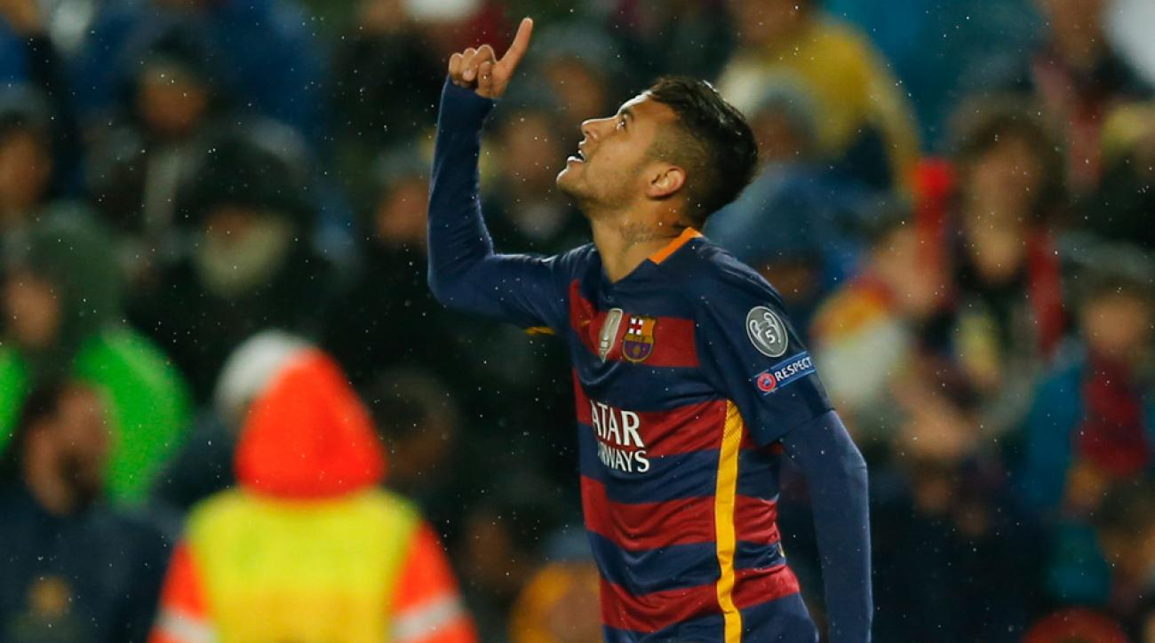Neymar scored for Barcelona vs. Arsenal in the Champions League