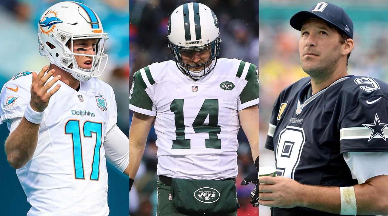 Ryan Tannehill, Ryan Fitzpatrick and Tony Romo