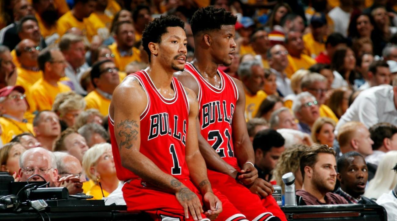 Chicago Bulls stars Jimmy Butler and Derrick Rose play password