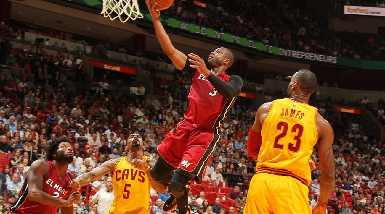 Dwyane Wade 20k career points Heat Cavaliers video
