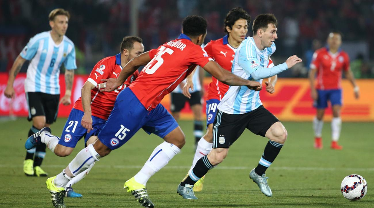Lionel Messi and Argentina face Chile in a World Cup qualifier