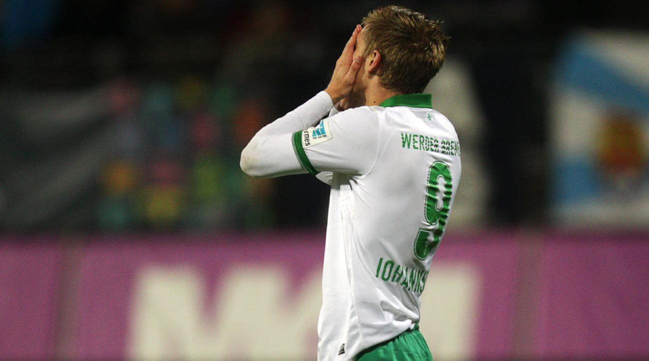 Aron Johannsson is expected to miss the rest of the Werder Bremen season