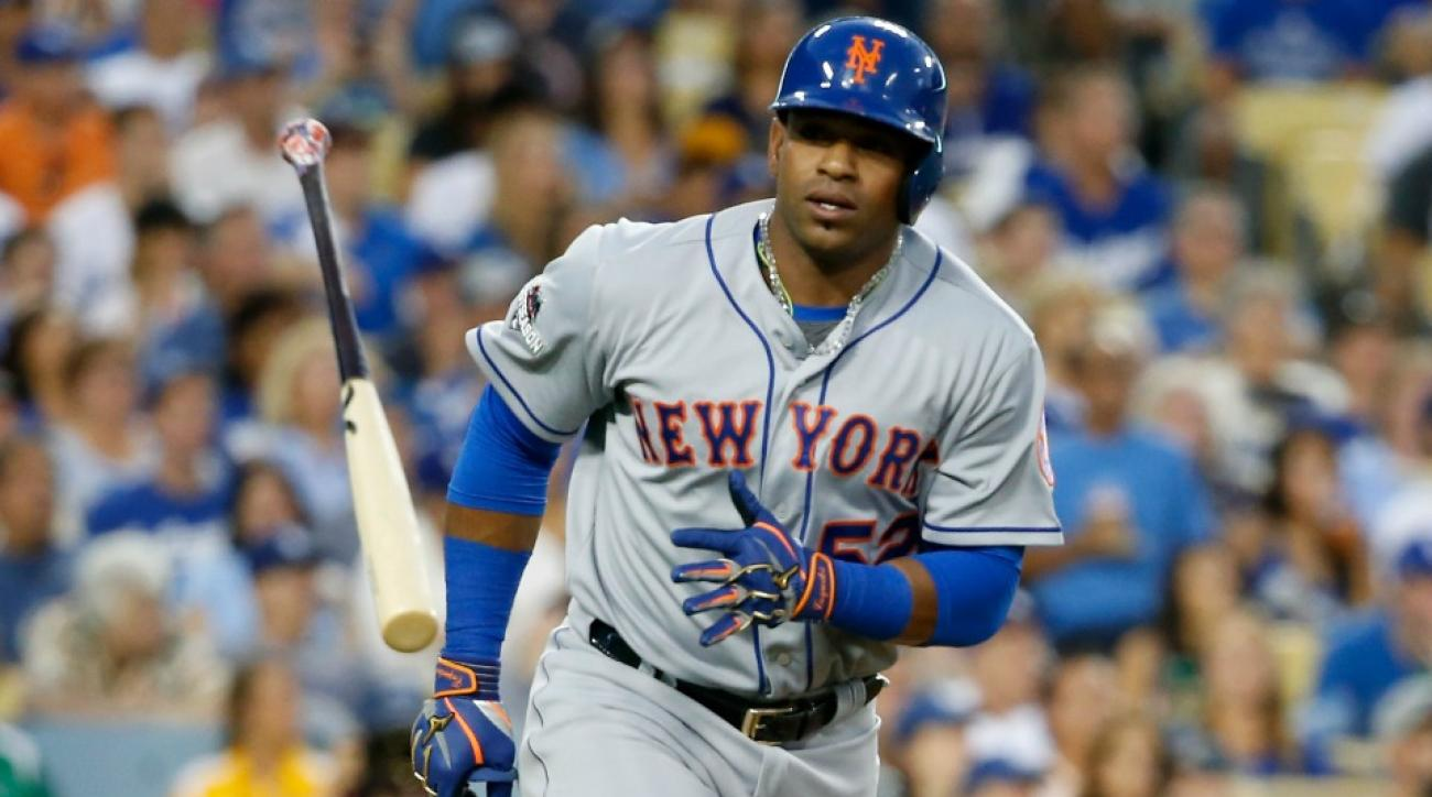 New York Mets' Yoenis Cespedes brought meatballs for his teammates