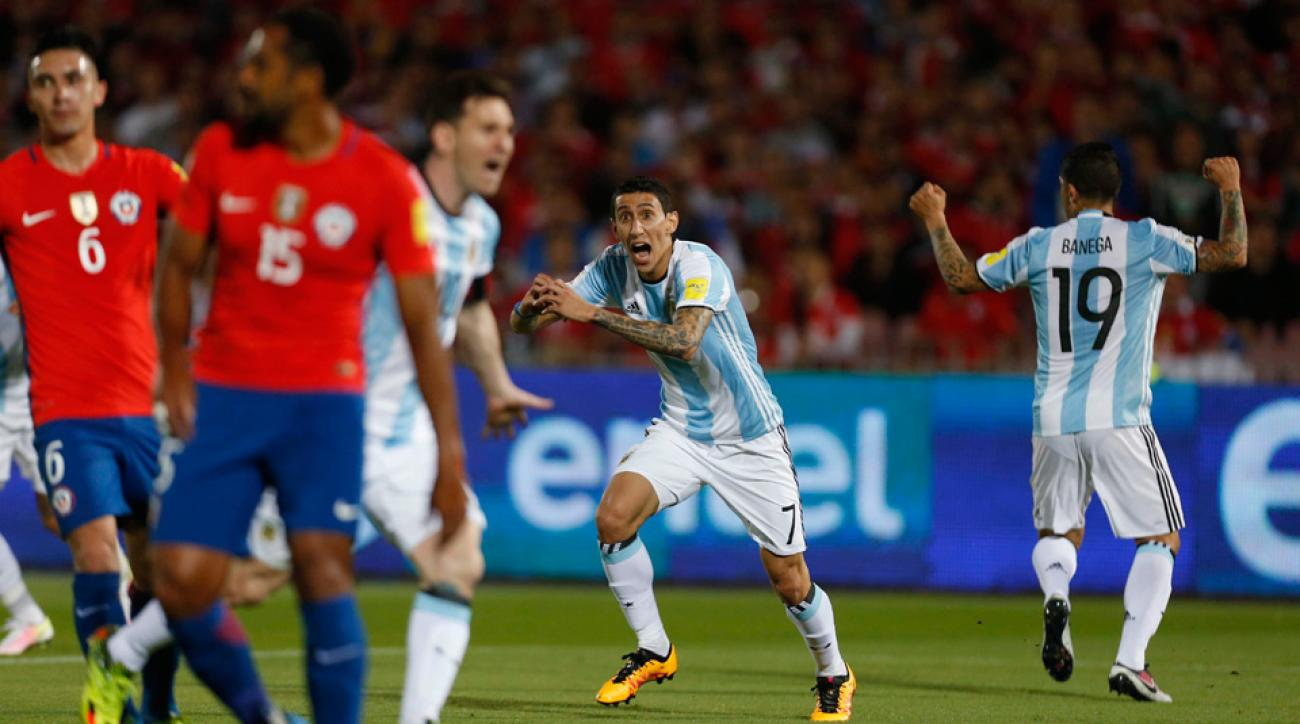Argentina beats Chile 2-1 in a World Cup qualifier