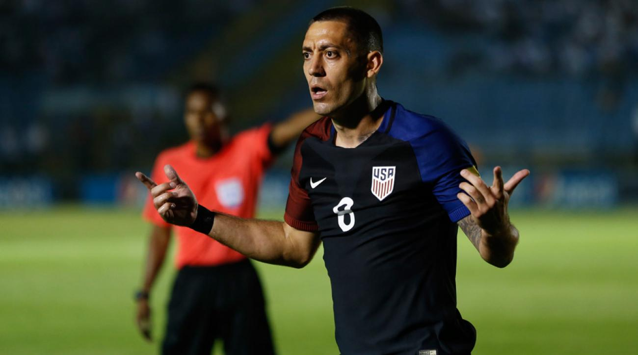 Clint Dempsey shows his frustration in the USA's World Cup qualifier against Guatemala