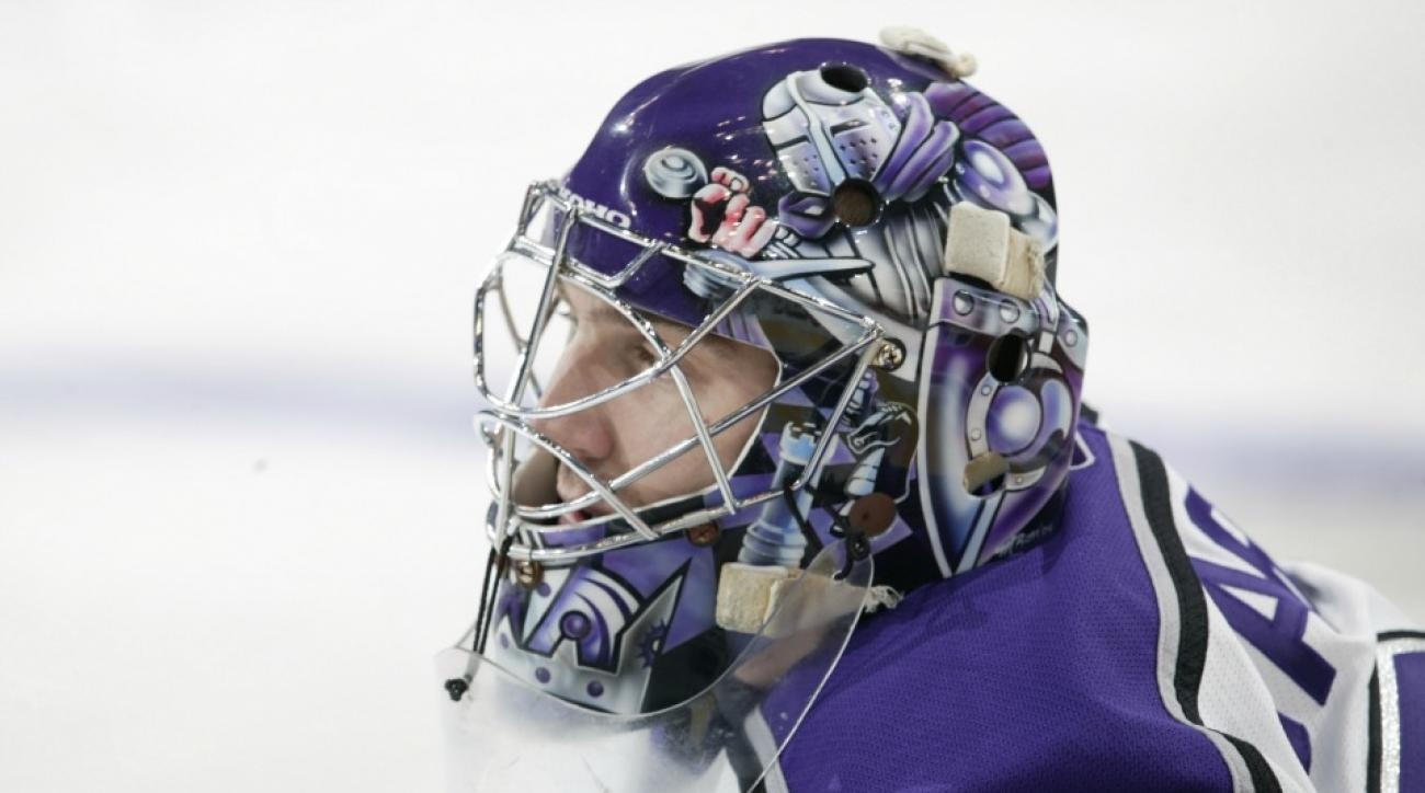 Los Angeles Kings goalie finds long ago stolen mask on ebay