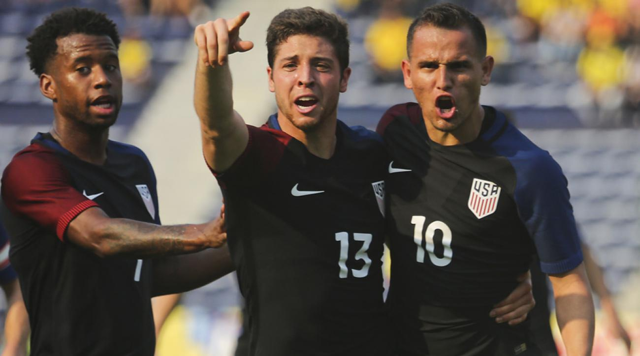 USA draws Colombia 1-1 in the first leg of their Olympic qualifying playoff