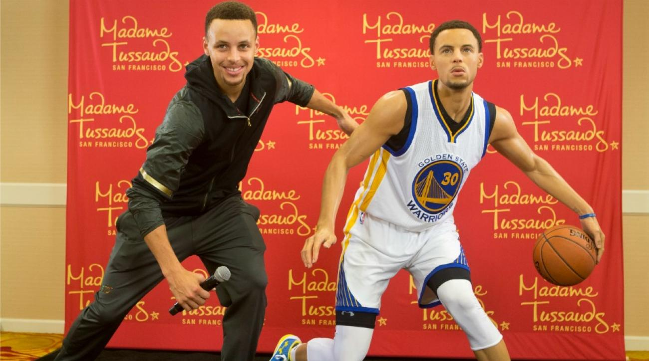 Warriors' Stephen Curry and his wax figure did a face swap and it is scary