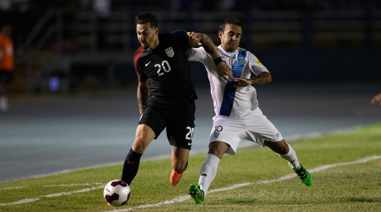 Geoff Cameron and the USA fell to Guatemala in World Cup qualifying