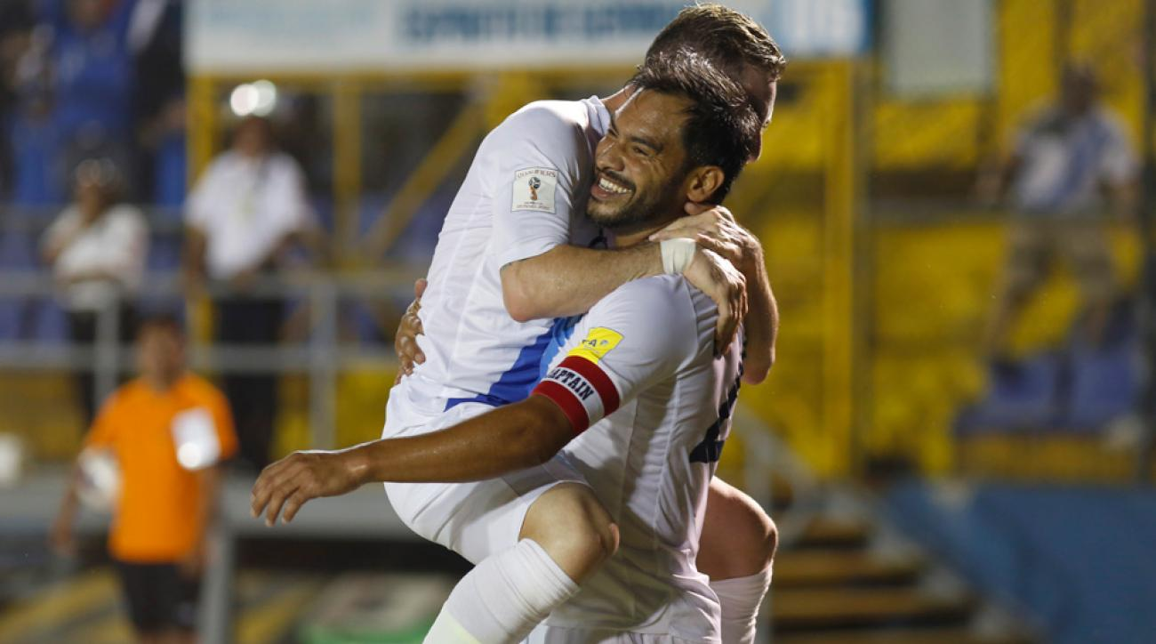 Carlos Ruiz scored against the USA in World Cup qualifying on Friday night.