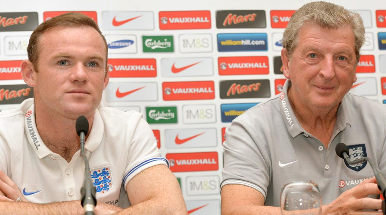 England forward Wayne Rooney and manager Roy Hodgson