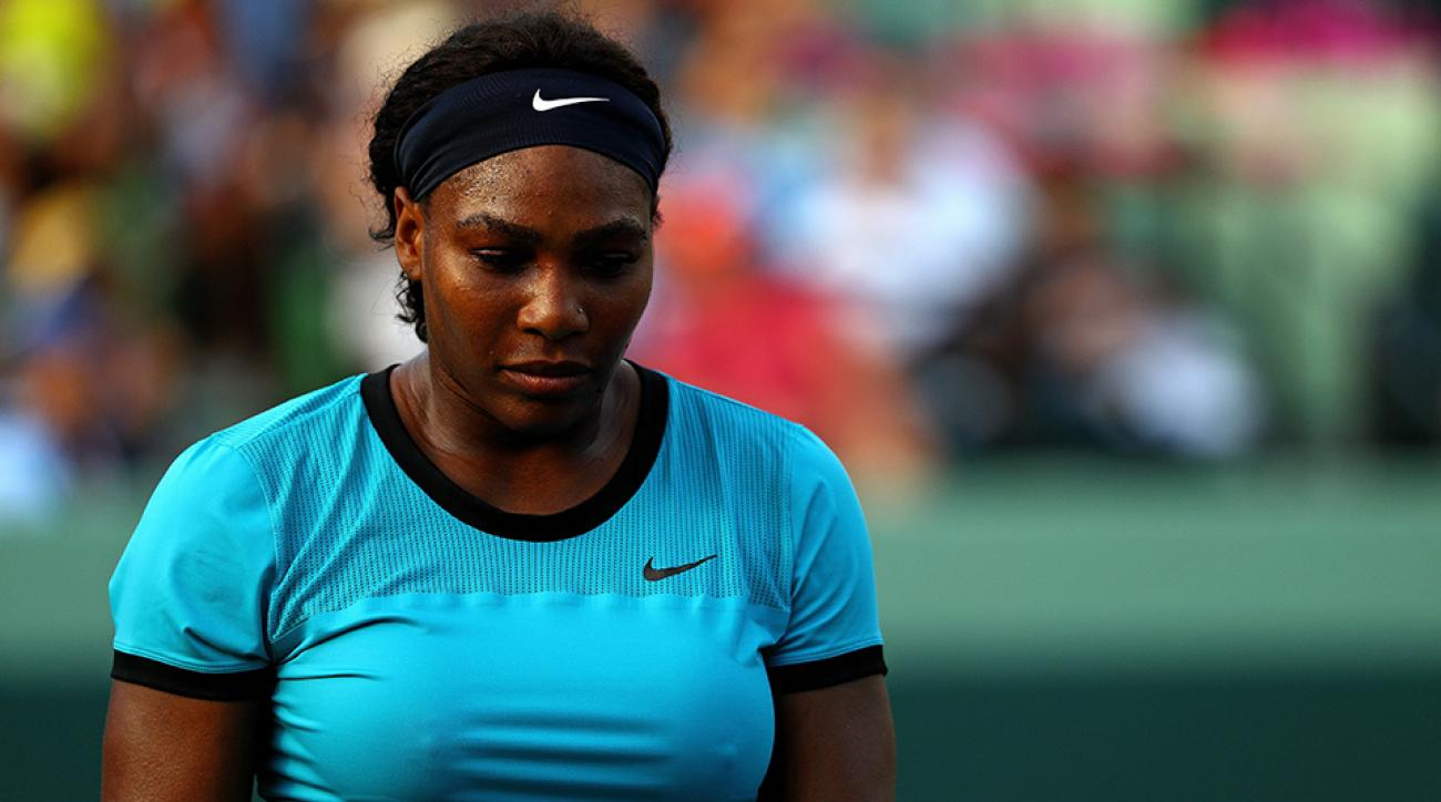 serena williams miami open upset scores results kuznetsova