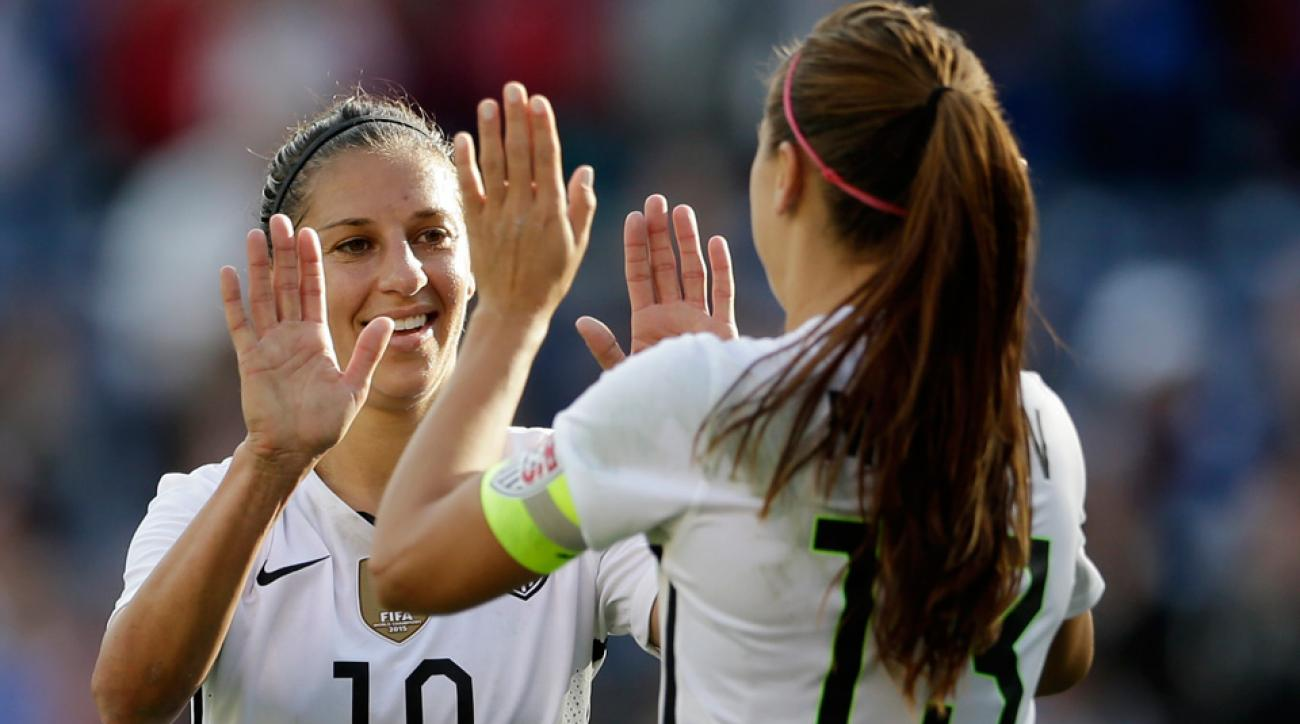 Carli Lloyd and Alex Morgan are part of a U.S. women's national team filing to the EEOC against U.S. Soccer