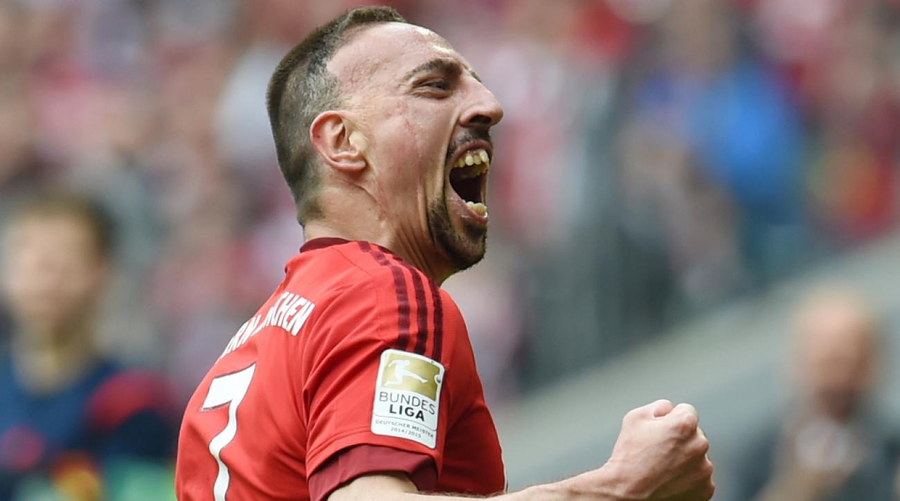 franck ribert goal bayern vs frankfurt