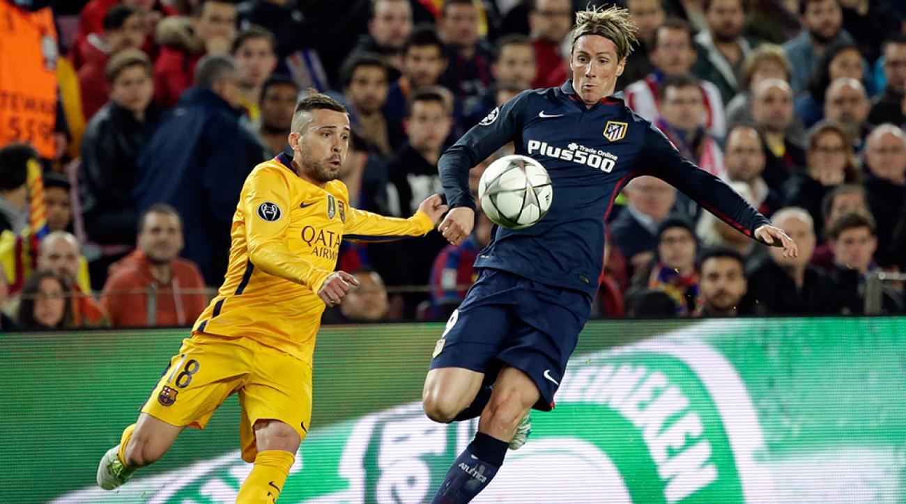 fernando torres atletico madrid barcelona champions league watch goal highlights video