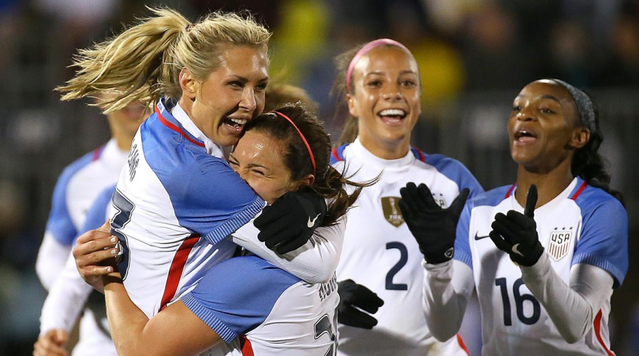 uswnt vs colombia goal highlights video