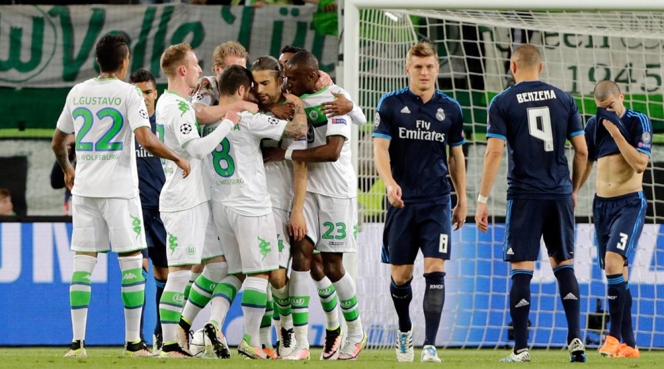 Wolfsburg stuns Real Madrid in the Champions League