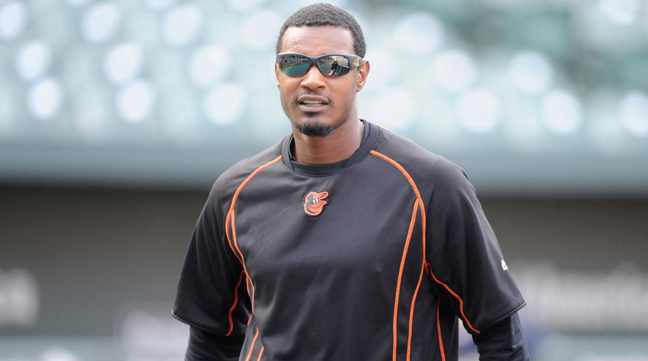 adam jones oblique strain orioles rays