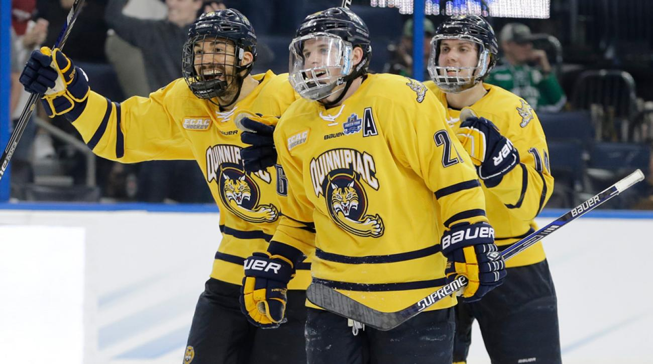 frozen four quinnipiac defeats boston college advances national championship