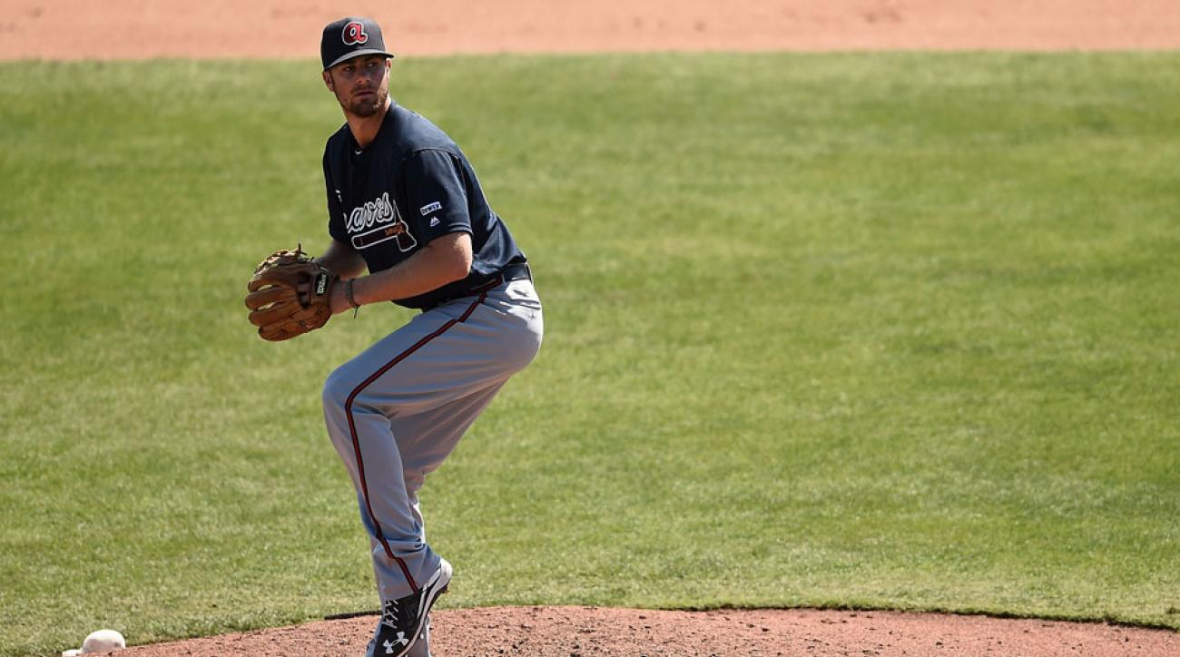 video john gant braves pitching delivery