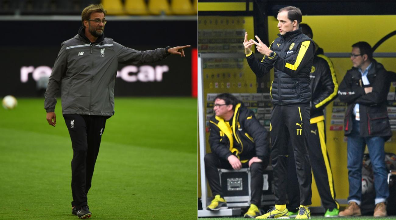 Jurgen Klopp and Thomas Tuchel square off when Liverpool meets Dortmund in the Europa League