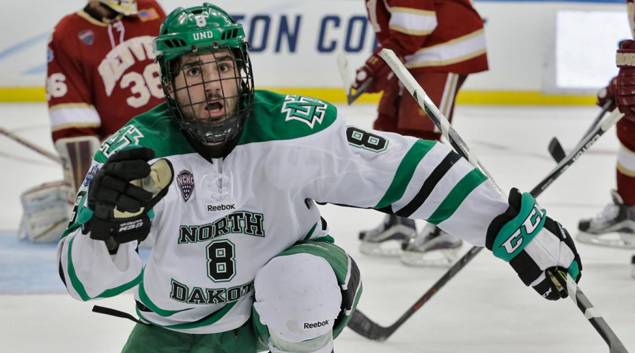 frozen four north dakota scores late vs denver national championship
