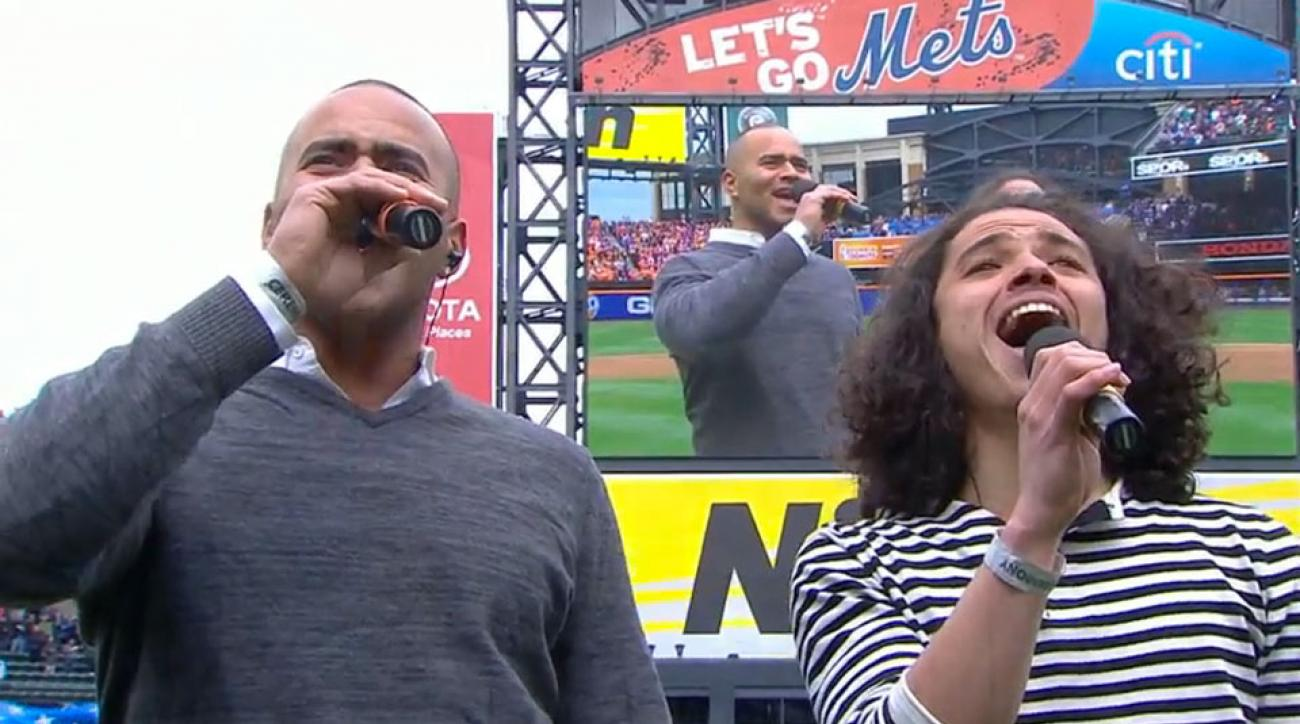 hamilton cast members mets phillies national anthem video