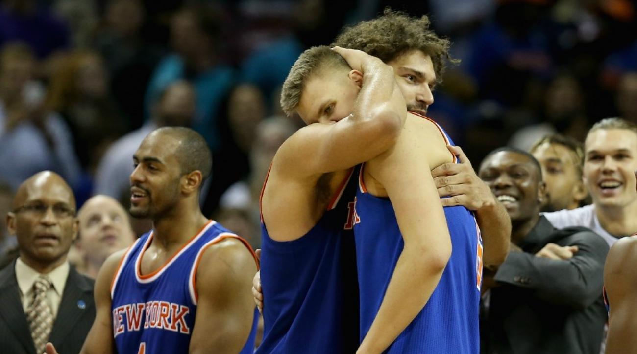 Knicks' Kristaps Porzingis sang happy birthday to Robin Lopez