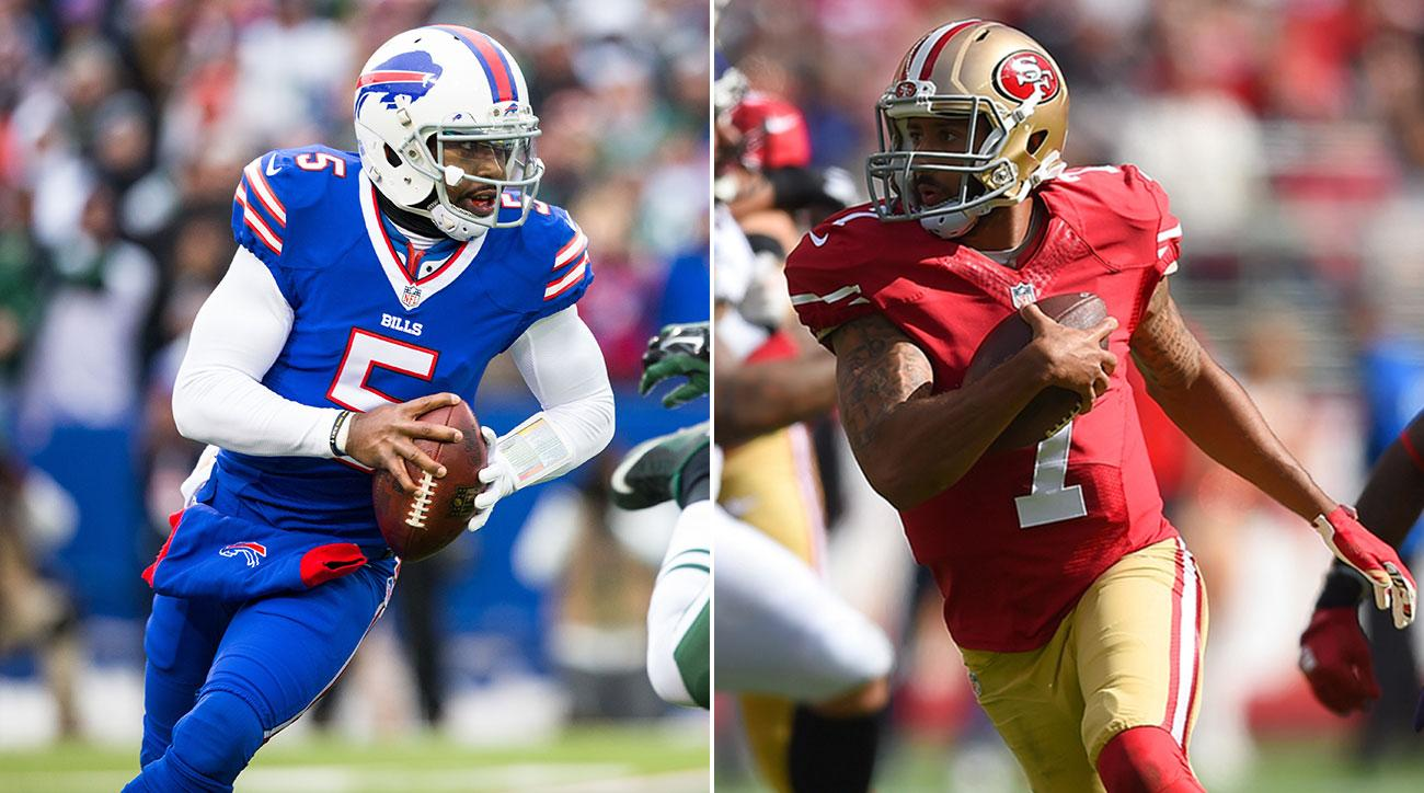 Tyrod Taylor and Colin Kaepernick.