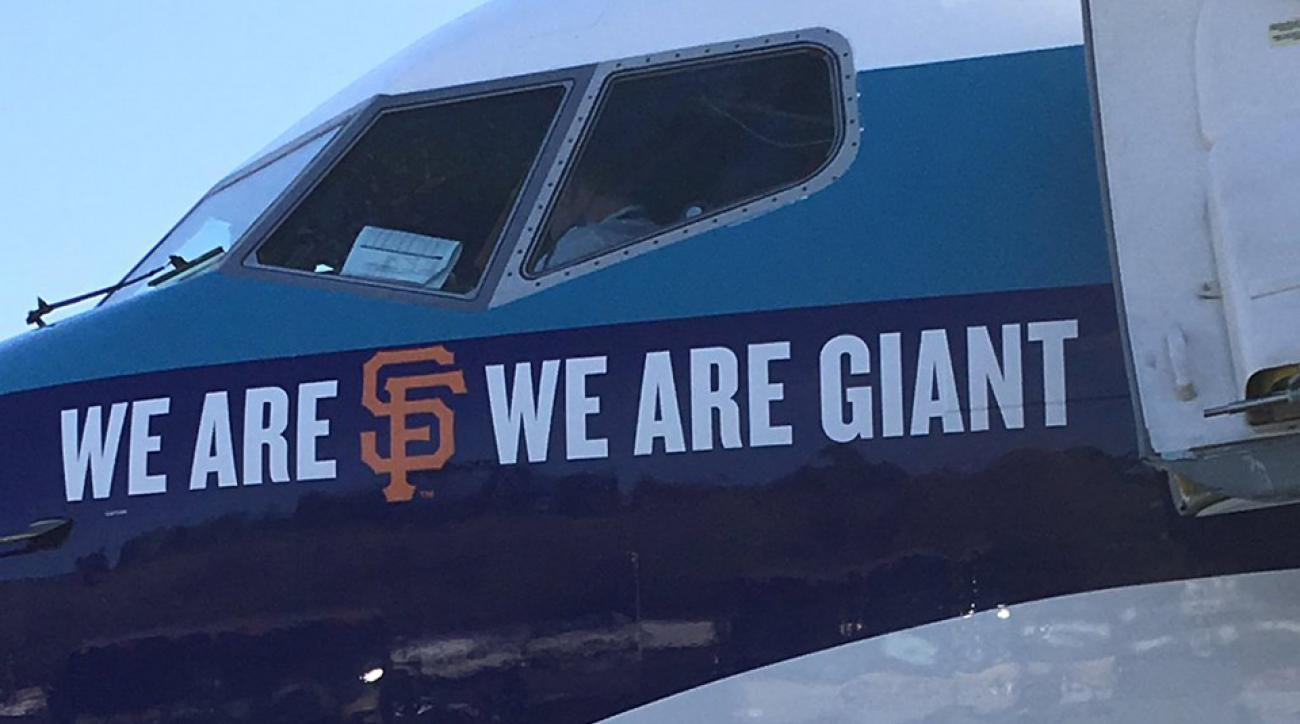 athletics plane giants logo