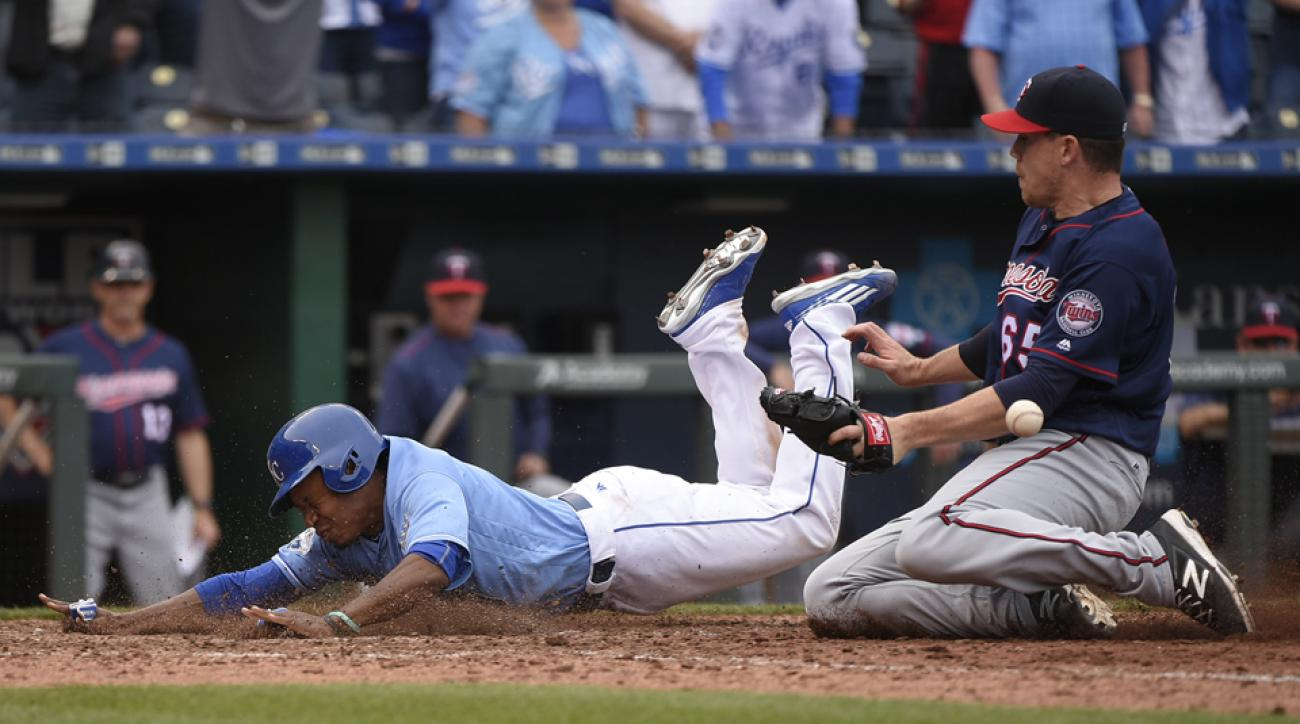 terrance gore walk off wild pitch royals twins