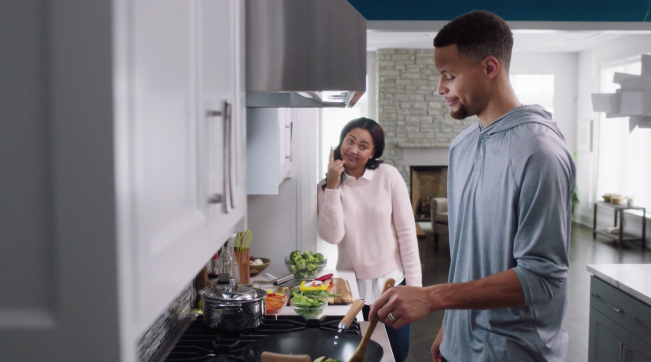 stephen curry  ayesha curry star in new ad  video