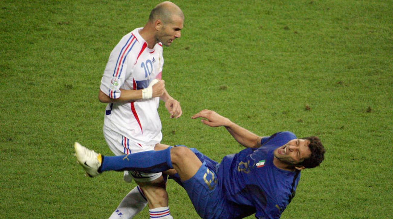 zinedine zidane headbutt video