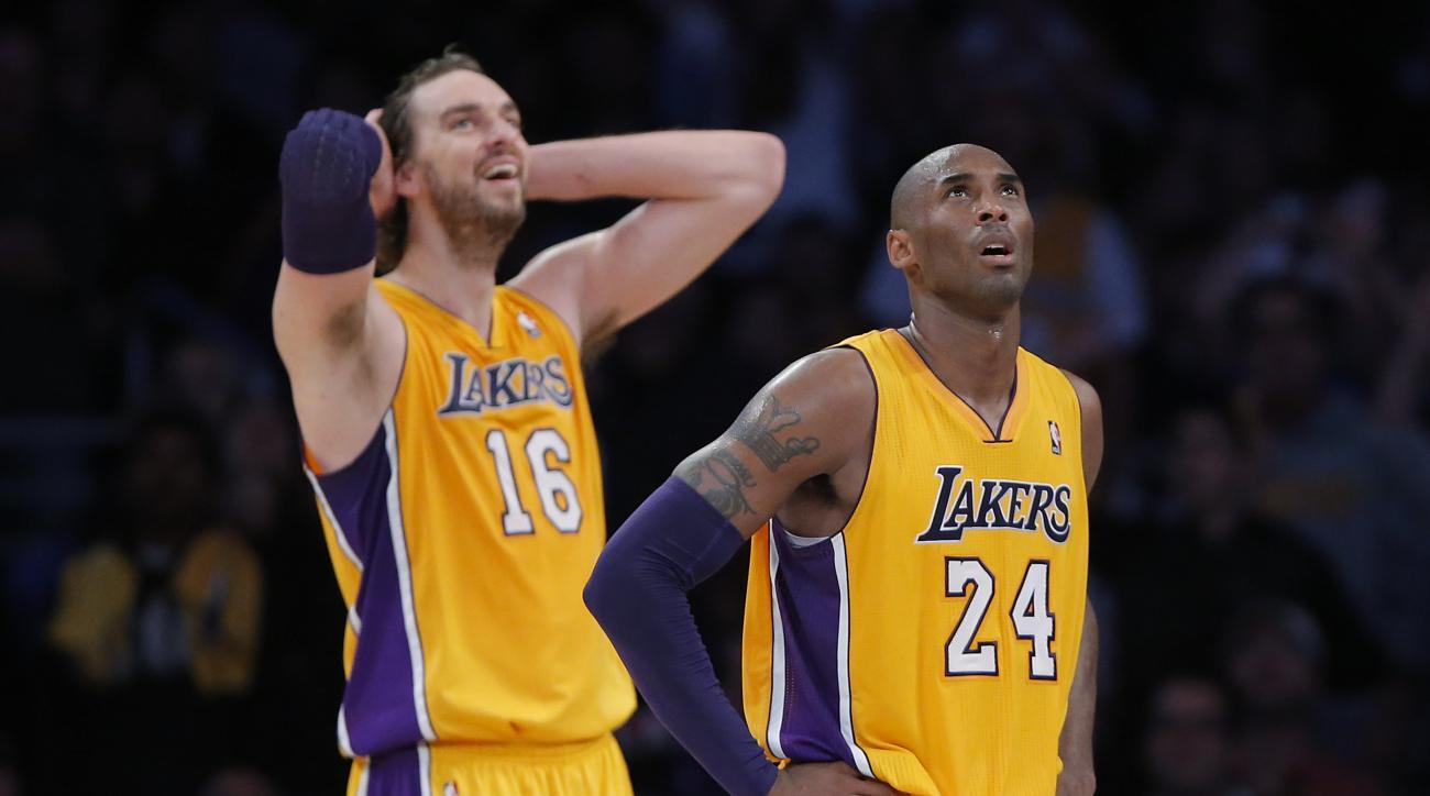Paul Gasol and Kobe Bryant